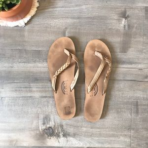 Rainbow Braided Sandals Size 8.5 -9.5